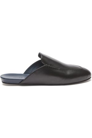 Inabo Slowfer Leather And Suede Slippers - Mens