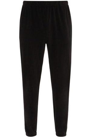 Les Tien Brushed-back Cotton Velour Track Pants - Mens
