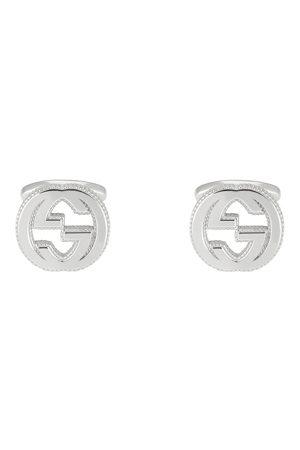 Gucci Men Cufflinks - Interlocking G Cufflinks in Sterling