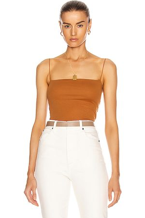 ENZA COSTA Women Tank Tops - For FWRD Essential Strappy Tank in Toffee