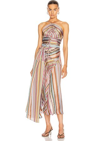 Rosie Assoulin Women Halterneck Tops - Halter Waist Tie Top in Rainbow