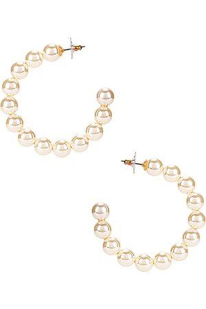 Lele Sadoughi Women Earrings - Stardust Pearl Hoop Earrings in Pearl