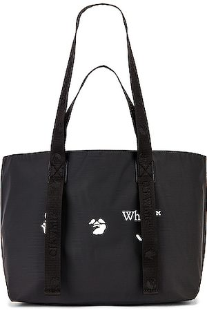 OFF-WHITE Men Tote Bags - OW Logo PVC Small Tote Bag in &
