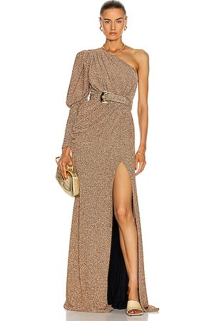 PATBO Women Party Dresses - Lurex One Shoulder Maxi Dress in