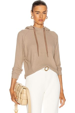 ENZA COSTA Sweater Rib Easy Hoodie in Taupe