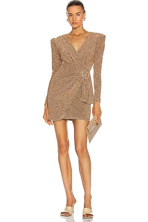 PATBO Lurex Faux Wrap Mini Dress in