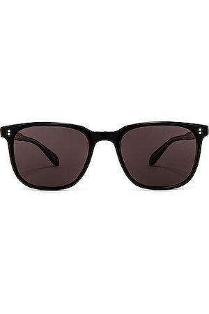 Garrett Leight Men Sunglasses - Emperor 52 in Laminate Crystal & Polar