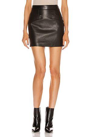 Saint Laurent Women Leather Skirts - Leather Skirt in Noir