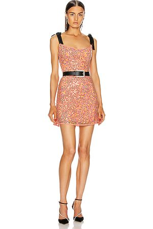 Markarian For FWRD Mars Iridescent Sequin Mini Dress in Coral