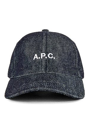 A.P.C. Men Caps - Charlie Baseball Cap in Indigo
