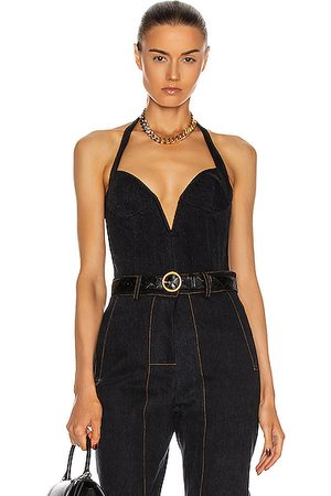 LAQUAN SMITH X Jordach Plunging Halter Top in