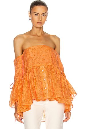 Rosie Assoulin Court Top in Cantaloupe