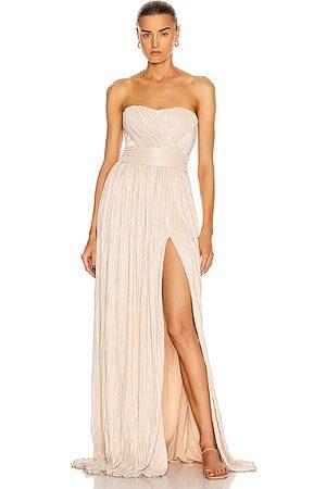 JONATHAN SIMKHAI Women Strapless Dresses - Rory Strapless Cross Front Gown in Dove