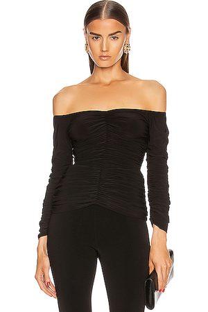 Norma Kamali Women Strapless Tops - Off Shoulder Slinky Top in
