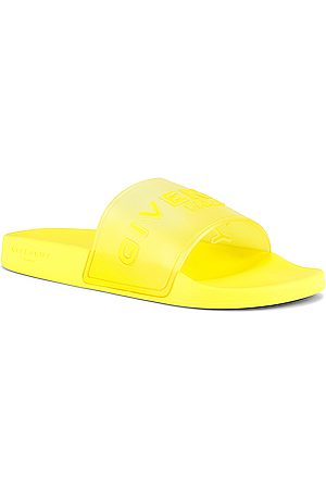 Givenchy Slide Flat Sandal Rubber in Fluo