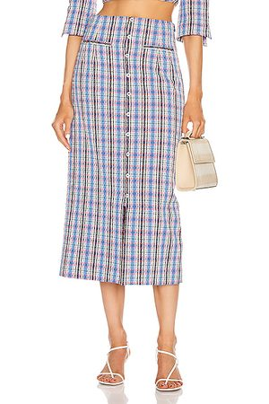Rosie Assoulin Button Down Pencil Skirt in Plaid