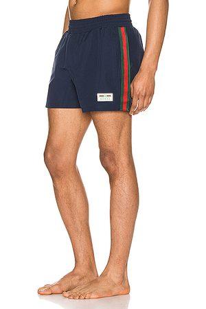 Gucci Waterproof Nylon Swim Shorts With Web in & &
