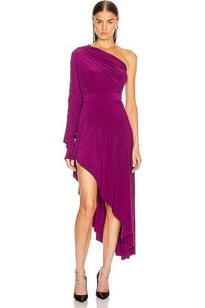 Norma Kamali Women Asymmetrical Dresses - For FWRD All In One Hi Low Dress in Raspberry