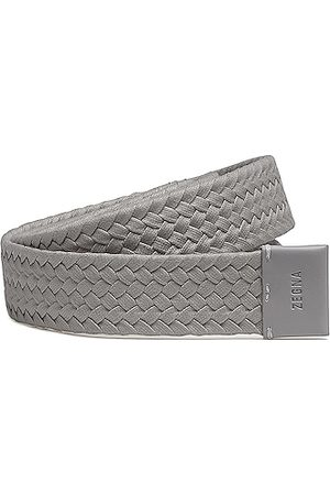 Fear of God Exclusively for Ermenegildo Zegna Men Belts - Smooth Calfskin Braided Leather Belt in