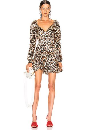 Caroline Constas Women Printed Dresses - Evelyn Dress in Leopard