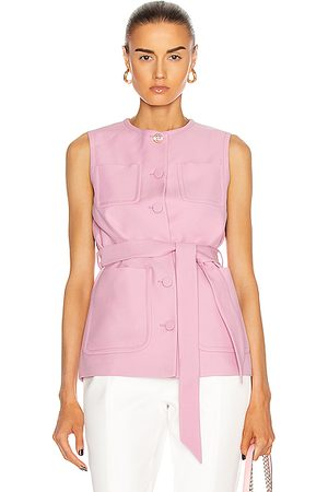 Gucci Sleeveless Belted Vest in Lilac Rose & Mix