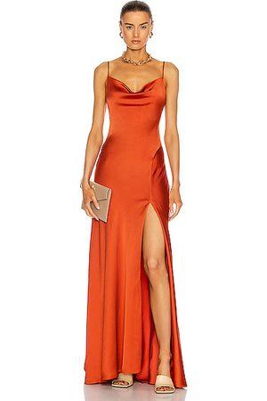JONATHAN SIMKHAI Finley Gown in Caramel
