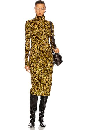 PROENZA SCHOULER WHITE LABEL Jersey Turtleneck Dress in & Snake