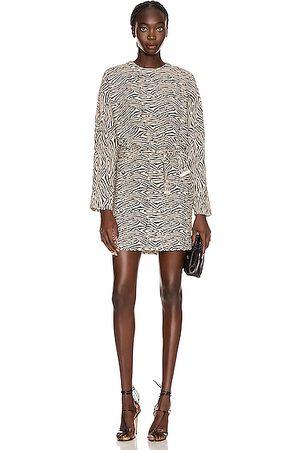 Nanushka Hierro Dress in Zebra Block Print