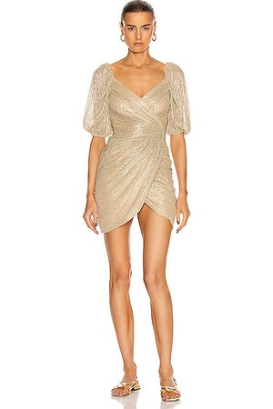 JONATHAN SIMKHAI Nina Mini Wrap Dress in