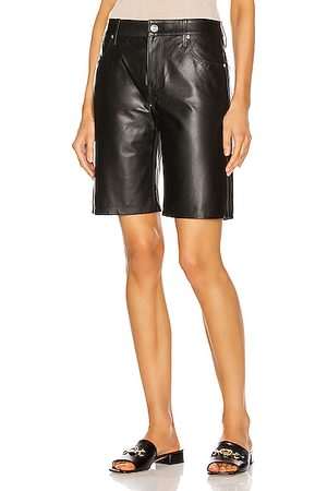 RTA Leather Jami Baggy Short in Su