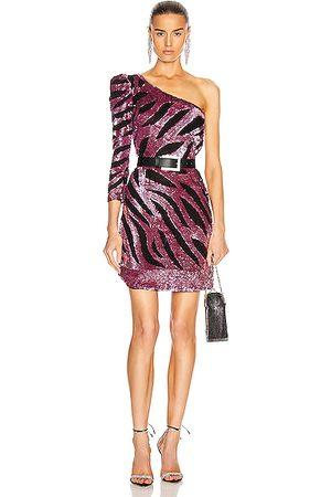 RÊVE RICHE Women Party Dresses - Maxx Mini Dress in Metallic Mauve