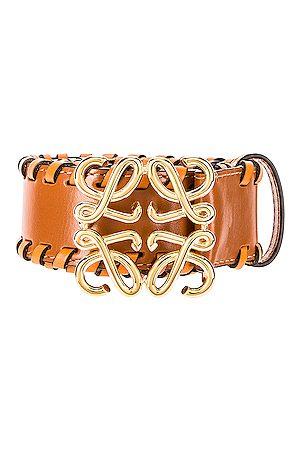 Loewe Anagram Braided Belt in Tan &