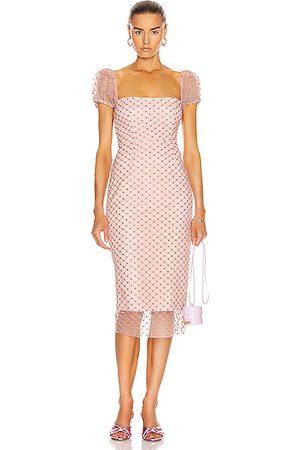 RÊVE RICHE Rozalina Midi Dress in Light Rose