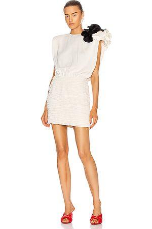 MAGDA BUTRYM Women Sleeveless Dresses - Sleeveless Mini Dress With Shoulder Detail in Cream