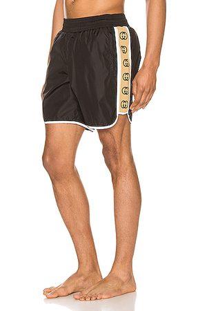 Gucci Nylon Swim Shorts With Ribbon in & Multi