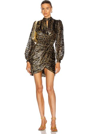 JONATHAN SIMKHAI Vita Wrap Dress in Lurex