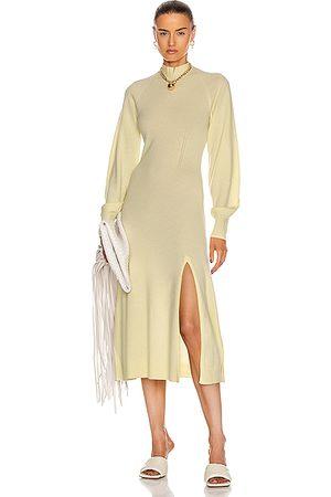 JONATHAN SIMKHAI Brielle Cashmere Dress in Pale