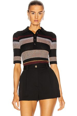 Proenza Schouler Zig Zag Polo Top in Multi