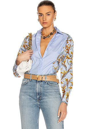 VERSACE Button Down Long Sleeve Top in &