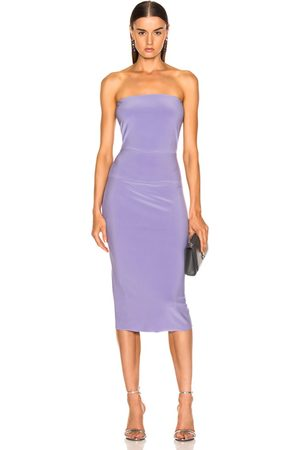 Norma Kamali For FWRD Strapless Dress in Violet