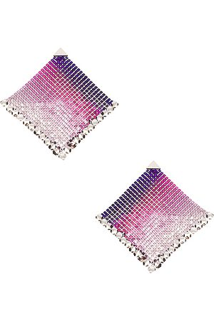 Paco rabanne Women Earrings - Pixel Flow Earrings in Liquid Neon