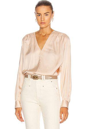 REMAIN Women Long sleeves - Straw Long Sleeve Shirt in Cream Tan