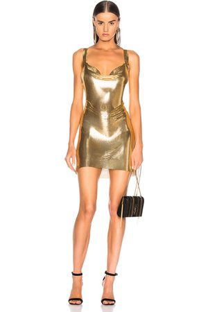 FANNIE SCHIAVONI Women Party Dresses - Metal Mesh Dress in