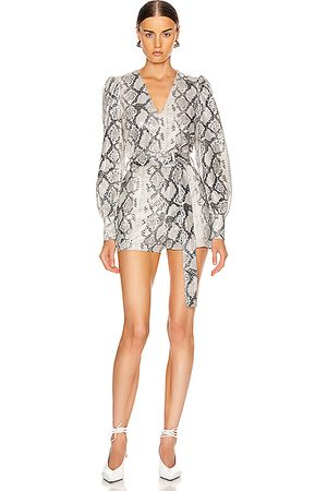 Andamane Women Jumpsuits - Cara Belted Snake Print Playsuit in