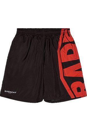 Givenchy Men Board Shorts - Logo Long Bermuda Swim Short in &