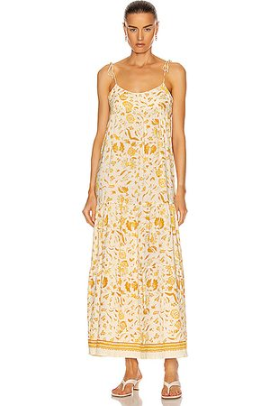 Natalie Martin Women Sleeveless Dresses - Melanie Dress in Wildflower Saffron