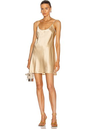 La Perla Women Party Dresses - Silk Short Slip Dress in Stone