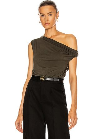 ENZA COSTA Women Strapless Tops - Silk Jersey Off Shoulder Top in Uniform