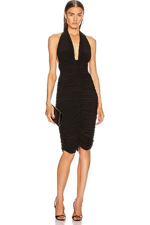 Norma Kamali Women Halterneck Dresses - Halter Slinky Dress in