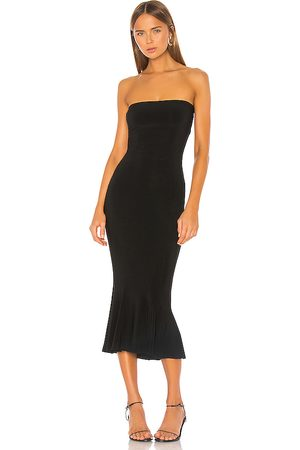 Norma Kamali Strapless Fishtail Dress in .